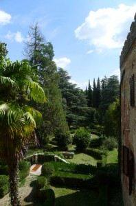 A view of the Italian garden where the wedding will be held.
